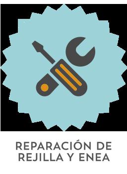 reparacion de rejilla y enea